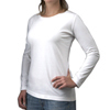 Women's long sleeved t-shirts in light colors.