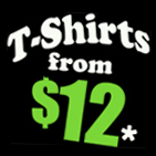 Cheap funny t-shirts priced from $12 -- Cool funny and offensive attitude t-shirts.