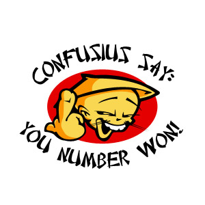 Confusius Say You Number Won Funny Oriental Asian T-shirt