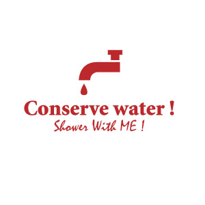 Conserve water, shower with me t-shirt