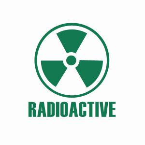 Funny T-shirt Radiation Sign