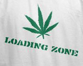 Funny weed t-shirts -- Loading zone.