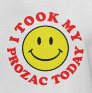 Happy face took my medication today funny antidepressants t-shirt