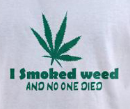 I smoked weed and no one died, funny pot t-shirt